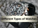 Different Types of Watches