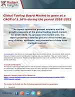 Global Tooling Board Market to grow at a CAGR of 5.16% during the period 2018-2022