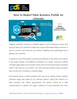 How to Report Fake Business Profile On LinkedIn | Pure Design Solution
