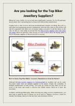 Are you looking for the Top Biker Jewellery Suppliers?