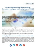 Business Intelligence and Analytics Market Positioning and Growing Market Share Worldwide
