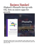 Flipkart's PhonePe ties up with Ola, bets on micro-apps for growth