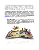 Benefits Of Getting Your Child The Habit Of Reading Books