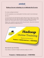 Big data hadoop classes in Bangalore