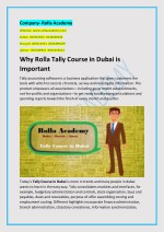 Why Rolla Tally Course in Dubai is Important