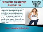Welcome to strong girls club