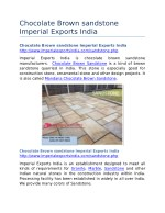 Chocolate Brown sandstone Imperial Exports India