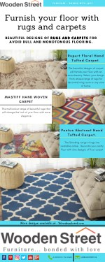 Furnish your floor with rugs and carpets