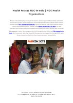 Health Related NGO in India | NGO Health Organizations