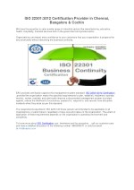 ISO Certification Body in Bangalore