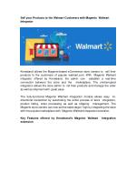 Sell your Products to the Walmart Customers with Magento Walmart Integrator