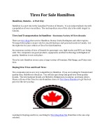 Tires For Sale Hamilton
