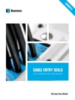 Roxtec Cable Entry Seal for Cabinets