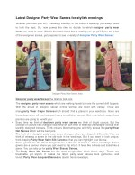 Latest Designer Party Wear Sarees for stylish evenings