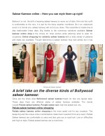 Salwar Kameez online – Here you can style them up right!