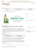 6/18/2018Patanjali Neem Oil Price, Uses, Benefits, and Dosage