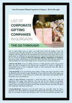 List of Corporate Gifting Companies in Gurgaon - The Go Through!