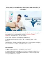 Grow your international e commerce sales with parcel forwarding