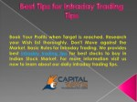 Best Tips for Intraday Trading Tips