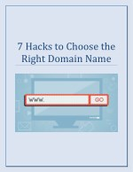 7 Hacks to Choose the Right Domain Name