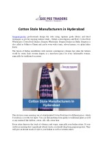 Cotton Stole Manufacturers in Hyderabad