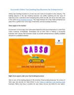 Successful Online Taxi booking App Business for Entrepreneurs