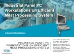 Industrial Panel PC Workstations On Efficient Meat Processing System
