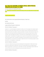 HLT 520 GCU ENTIRE COURSE LEGAL AND ETHICAL PRINCIPLES IN HEALTH CARE