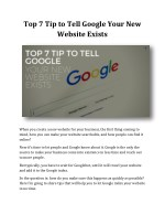 Top 7 Tip to Tell Google Your New Website Exists