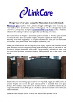 Design Your Own Gates Using Our Aluminium Gate Infill Panels