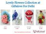 Lovely Flowers Collection at Giftalove For Delhi