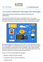 An overview of Blockchain Technology's Main Advantages