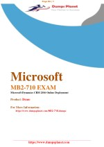 Latest MB2-710 pdf practice exam questions