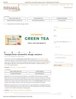 Patanjali Green tea benefits, dosage, and price - Patanjali Ayurvedic
