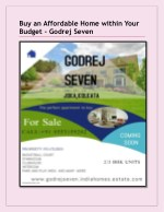Buy an affordable home within your budget-Godrej Seven