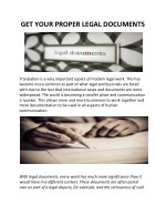 GET YOUR PROPER LEGAL DOCUMENTS