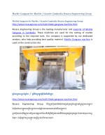 Marble Gangsaw for Marble / Granite Cambodia Rosava Engineering Group
