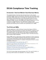 DCAA Compliance Time Tracking