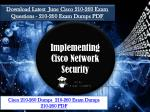 Download 210-260 2018 Exam Dumps - Cisco 210-260 Braindumps Realexamdumps.com