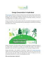 Energy Conservation in hyderabad