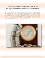 Choosing the best Corporate Expense Management Software for the Company