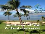 Car Rental Maui Hawaii Airport