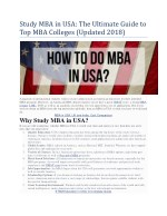 Study MBA in USA: The Ultimate Guide to Top MBA Colleges (Updated 2018)
