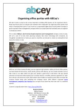Organising office parties with ABCey's