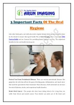 3 Important Facts Of The Oral Hygiene
