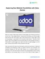 Exploring New Website Possibilities with Odoo themes
