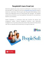 PeopleSoft Users Email List | B2B Marketing Archives