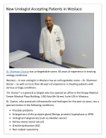 Dr. Shamoon doctor a new urologist in Weslaco has an unforgettable name