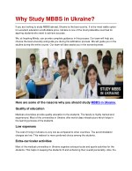 Why Study MBBS in Abroad?
