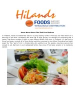 Know More About The Thai Food Culture
